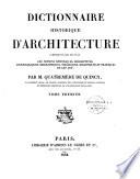 Dictionnaire historique d architecture