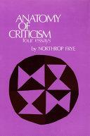 download ebook anatomy of criticism pdf epub