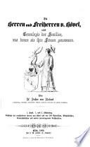 Die Herren Und Freiherren V H Vel Nebst Genealogie Der Familien Aus Denen Sie Ihre Frauen Genommen