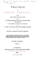 Travels in North America During the Years 1834, 1835 & 1836