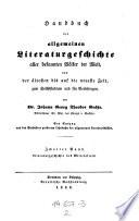 Literaturgeschichte des Mittelalters