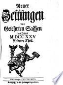 Neuer Zeitungen von Gelehrten Sachen des Jahrs M DCC XXV.