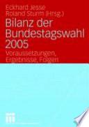 Bilanz der Bundestagswahl 2005