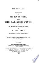 The Progress of the Development of the Law of Storms  and of the Variable Winds