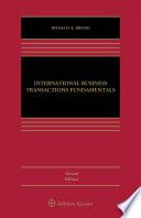 International Business Transactions Fundamentals