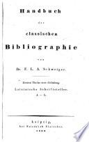 Handbuch der classischen Bibliographie