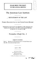 Restatement Of The Law Foreign Relations Law Of The United States Revised