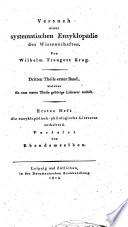 Enzyclopaedisch szientifische Literatur