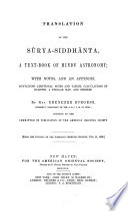 Translation of the Sûrya-Siddhânta
