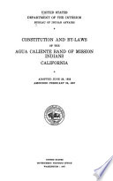 Constitutions  by laws  and charters of Indian tribes