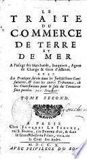 illustration Traité du commerce de terre et de mer