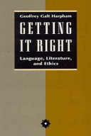 Getting It Right book
