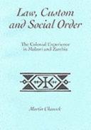 Law  Custom  and Social Order