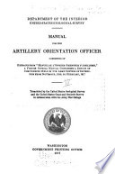Manual for the Artillery Orientation Officer