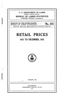 Retail Prices  1913 to December 1921