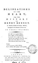 download ebook delineations of the heart; or, the history of henry bennet [by j. raithby], 3 vols pdf epub