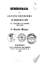 Memoria di alcuni pensieri sull influenza che ha l epate sul carattere e le passioni dell uomo di Aurelio Finizio