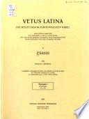 Esaias  Introduction et Is 1 1 1 22