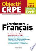 Objectif CRPE Entrainement En Fran  ais   2018
