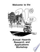 Hazards Research and Applications Workshop  1996