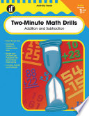Two Minute Math Drills Grades 1 3 book