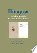 Hinojosa en la Real Academia de Ciencias Morales y Políticas.
