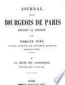 Journal d'un bourgeois de Paris pendant la Terreur