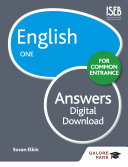 English for Common Entrance One Answers