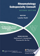 The Washington Manual of Rheumatology Subspecialty Consult