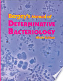 Bergey s Manual of Determinative Bacteriology