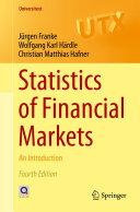 download ebook statistics of financial markets pdf epub