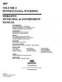 Mergent Municipal   Government Manual