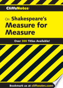 CliffsNotes on Shakespeare s Measure For Measure