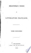 Biblioth  que Choisie de Litt  rature Fran  aise