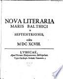 Nova literaria maris Balthici