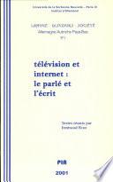 T  l  vision et internet