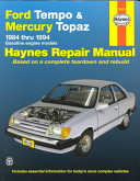 Ford Tempo and Mercury Topaz 1984 1994