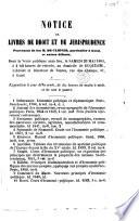 Notice de livres de droit et de jurisprudence provenant de feu M  de Cliever