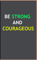 Strong and Courageous Antiqued Zippered Classic LuxLeather Journal - Joshua 1