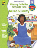 Music   Poetry Literacy Activities for Circle Time  Ages 3   6