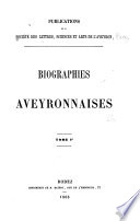 Biographies aveyronnaises Free download PDF and Read online