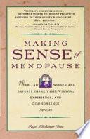 Making Sense Of Menopause book