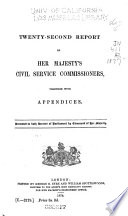 Report of Her Majesty s Civil Service Commissioners Book PDF