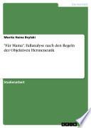 """""""Für Mama"""". Fallanalyse nach den Regeln der Objektiven Hermeneutik"""