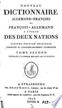 Nouveau Dictionnaire Allemand Francois