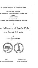 The Influence of   mile Zola on Frank Norris