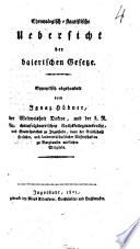 Chronologisch-statistische Uebersicht der baierischen Gesetze