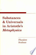 Substances and Universals in Aristotle s Metaphysics
