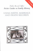 Using Birth  Marriage and Death Records
