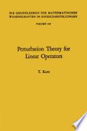 Perturbation theory for linear operators